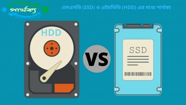 এসএসডি (SSD) ও এইচডিডি (HDD) এর মধ্যে পার্থক্য