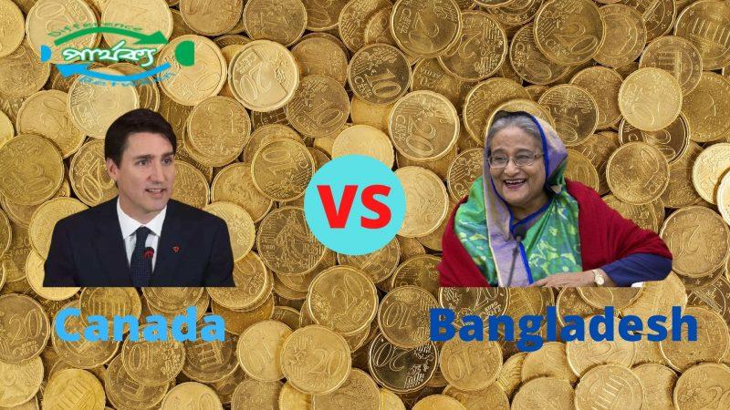 বাংলাদেশ ও কানাডা দুই দেশের অর্থনীতির মধ্যে পার্থক্য